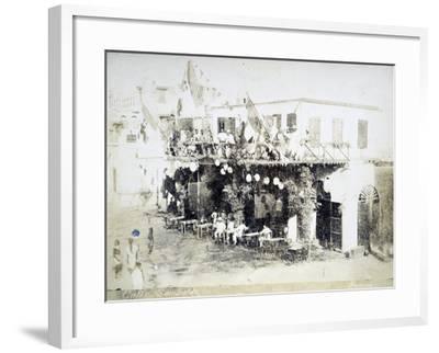 Eritrea, Massawa, Caffe Garibaldi, Italian Officers Meeting--Framed Giclee Print