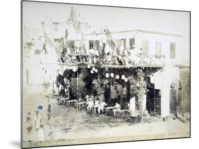 Eritrea, Massawa, Caffe Garibaldi, Italian Officers Meeting--Mounted Giclee Print