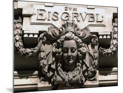 Sculptural Decoration of Building with Inscription Zum Eisgruebl, Vienna, Austria--Mounted Giclee Print