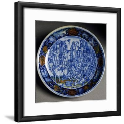 Plate with Allegory of Selene, Ceramic, Faenza Manufacture, Emilia-Romagna, Italy, Ca 1510--Framed Giclee Print