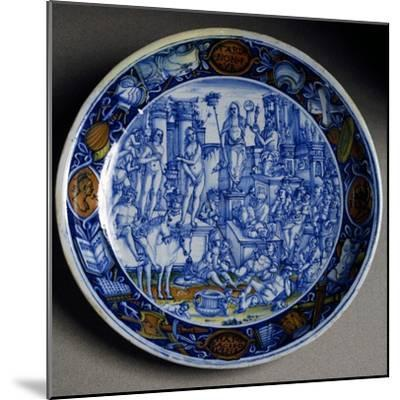 Plate with Allegory of Selene, Ceramic, Faenza Manufacture, Emilia-Romagna, Italy, Ca 1510--Mounted Giclee Print