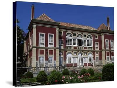 The Facade of the Palace of the Marquesses of Fronteira--Stretched Canvas Print