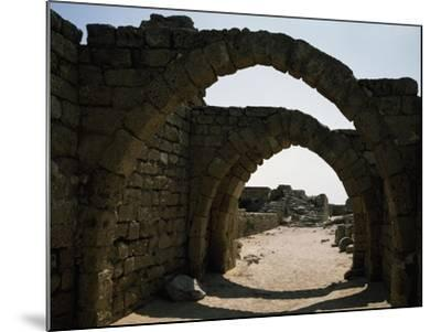Arches in Citadel of Crusader Period, Caesarea, Israel--Mounted Giclee Print