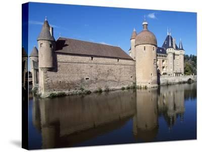 View of Chateau De La Clayette, Burgundy, France, 14th-19th Century--Stretched Canvas Print