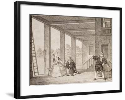 Singers Ruprecht, Fux and Lina Cavalieri on Stage, Performing Singspiel--Framed Giclee Print