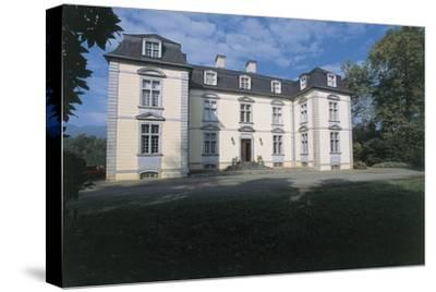 Facade of a Castle, Trois Villes, Pyrenees-Atlantiques, France--Stretched Canvas Print