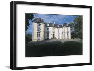 Facade of a Castle, Trois Villes, Pyrenees-Atlantiques, France--Framed Giclee Print