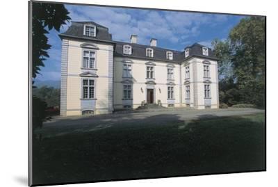 Facade of a Castle, Trois Villes, Pyrenees-Atlantiques, France--Mounted Giclee Print