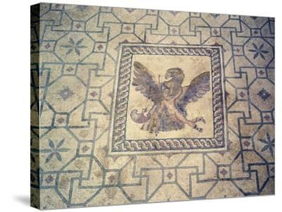 Ganymede and Eagle, Mosaic at Roman Villa of Dionysus, Paphos, Cyprus--Stretched Canvas Print