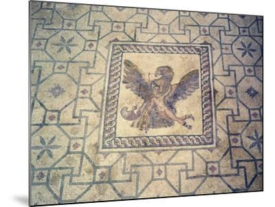 Ganymede and Eagle, Mosaic at Roman Villa of Dionysus, Paphos, Cyprus--Mounted Giclee Print
