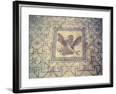 Ganymede and Eagle, Mosaic at Roman Villa of Dionysus, Paphos, Cyprus--Framed Giclee Print