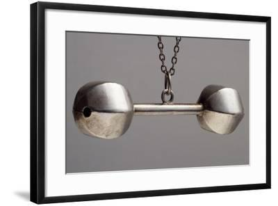 Silver Rattle. England, Early 20th Century--Framed Giclee Print