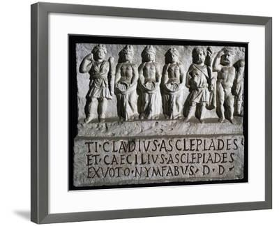 Aclepiade, Diana, Three Nymphs, Silvanus, and Hercules--Framed Giclee Print