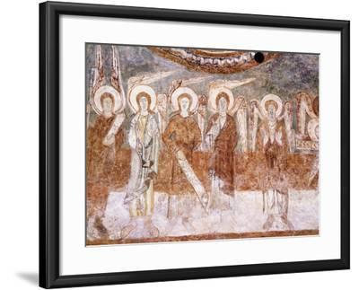 Angels of Heavenly Court, Romanesque Fresco in Abbey Church of Saint-Theodore--Framed Giclee Print