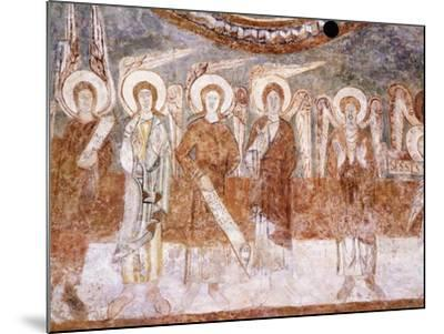 Angels of Heavenly Court, Romanesque Fresco in Abbey Church of Saint-Theodore--Mounted Giclee Print