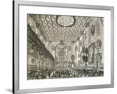 Interior of German Church During Church Service, Germany--Framed Giclee Print