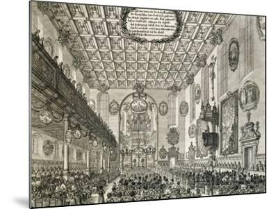 Interior of German Church During Church Service, Germany--Mounted Giclee Print