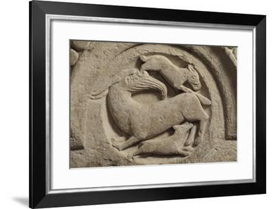 A Goat and Other Animals, Detail from the Harvest Cycle--Framed Giclee Print