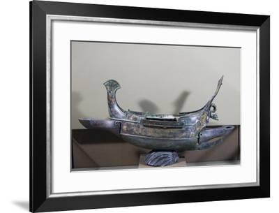 Votive Ship in Bronze Transformed into Lamp, 232 Ad--Framed Giclee Print