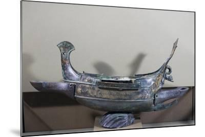 Votive Ship in Bronze Transformed into Lamp, 232 Ad--Mounted Giclee Print