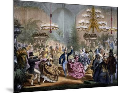 Dance in Winter Garden, 33 Champs-Elysees, Paris, Ca 1865, France--Mounted Giclee Print