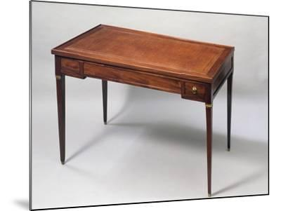 Louis XVI Style Games Table Desk with Leather Covered Top. France--Mounted Giclee Print