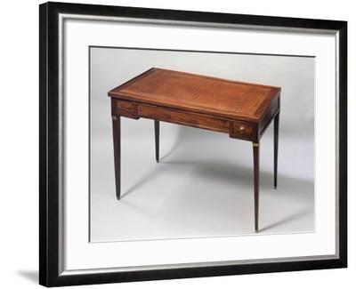 Louis XVI Style Games Table Desk with Leather Covered Top. France--Framed Giclee Print