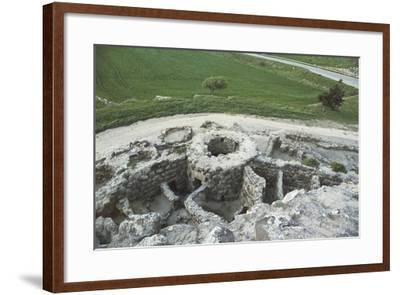 Italy, Sardinia Region, Barumini, Bronze Age Archaeological Site 'Su Nuraxi'--Framed Giclee Print