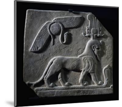 The God Tutu Trampling Cobra, Limestone, Ptolemaic Period, 4th-3rd Century BC--Mounted Giclee Print