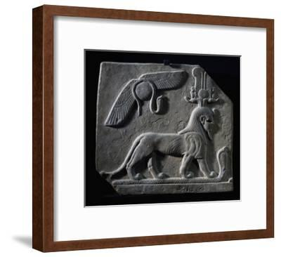 The God Tutu Trampling Cobra, Limestone, Ptolemaic Period, 4th-3rd Century BC--Framed Giclee Print