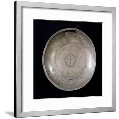 Silver Plate from the Canoscio Hoard, Perugia, Umbria, Italy--Framed Giclee Print