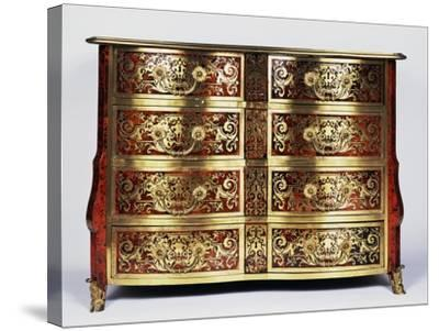 Louis XIV Style Commode with Boulle Style Tortoiseshell and Copper Inlays, France--Stretched Canvas Print