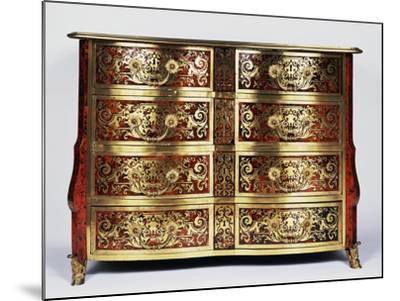 Louis XIV Style Commode with Boulle Style Tortoiseshell and Copper Inlays, France--Mounted Giclee Print