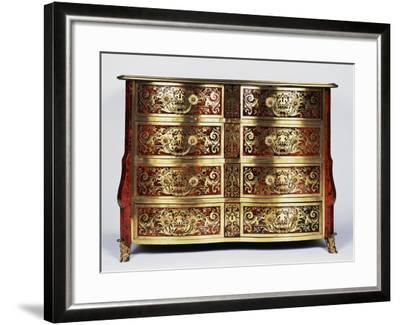 Louis XIV Style Commode with Boulle Style Tortoiseshell and Copper Inlays, France--Framed Giclee Print