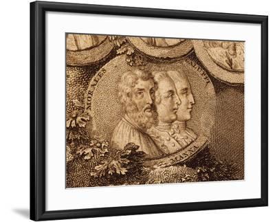 Portraits of Musicians Cristobal De Morales, Ruggero Manna and Baldassarre Galuppi--Framed Giclee Print