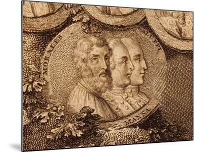 Portraits of Musicians Cristobal De Morales, Ruggero Manna and Baldassarre Galuppi--Mounted Giclee Print