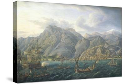 View of Kotor by Jb Genillion, Montenegro 16th Century--Stretched Canvas Print