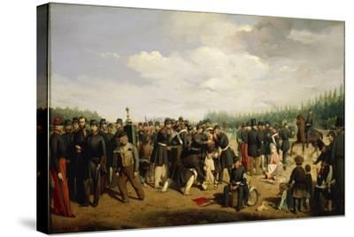 France, French National Guard, Painting by Arsene Hurtel, 1849--Stretched Canvas Print