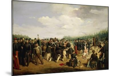France, French National Guard, Painting by Arsene Hurtel, 1849--Mounted Giclee Print