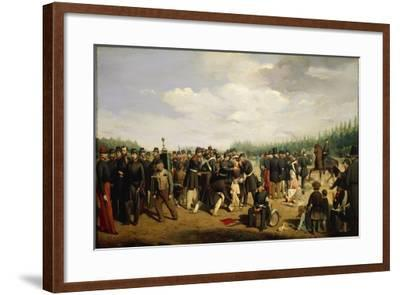 France, French National Guard, Painting by Arsene Hurtel, 1849--Framed Giclee Print