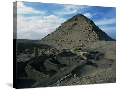 Pyramid and Mortuary Temple of Neferirkare, Abusir, Old Kingdom, Dynasty V--Stretched Canvas Print