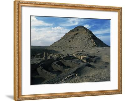 Pyramid and Mortuary Temple of Neferirkare, Abusir, Old Kingdom, Dynasty V--Framed Giclee Print