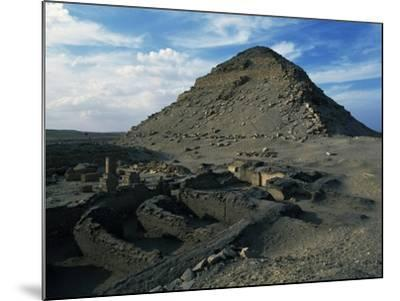 Pyramid and Mortuary Temple of Neferirkare, Abusir, Old Kingdom, Dynasty V--Mounted Giclee Print