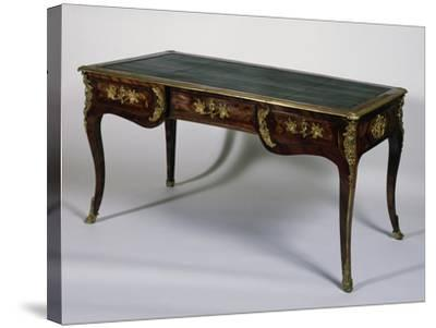 Louis XV Style Satinwood Writing Desk, France--Stretched Canvas Print