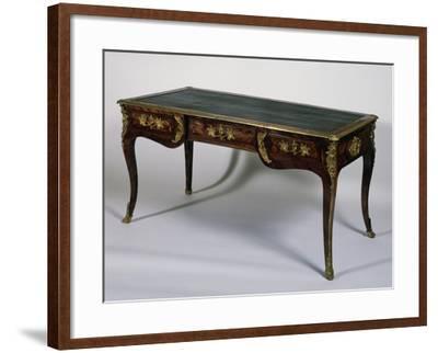 Louis XV Style Satinwood Writing Desk, France--Framed Giclee Print