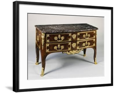 Commode with Gilt Bronzes and Marble Top, Ca 1700, France--Framed Giclee Print