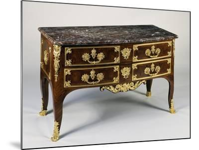 Commode with Gilt Bronzes and Marble Top, Ca 1700, France--Mounted Giclee Print