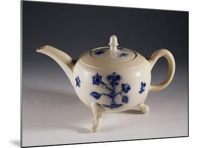 Teapot with Oriental-Inspired Floral Decorations, Ca 1740--Mounted Giclee Print