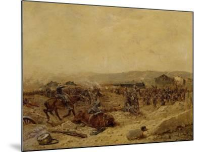 Chasseurs XII Arriving at Peltre, September 27, 1870. Franco-Prussian War--Mounted Giclee Print