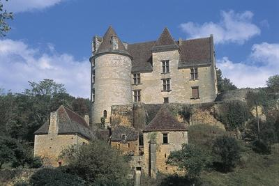 Low Angle View of a Castle, Panassou Castle, Aquitaine, France--Framed Giclee Print